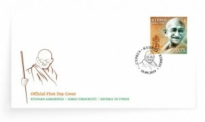 CYPRUS/2019, (FDC) 150th Birthday of Mahatma Gandhi , MNH