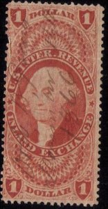 US Sc R69d SILK Used Inland Exchange F-VF