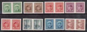 Canada #249d - #256a XF/NH Imperforate Pairs