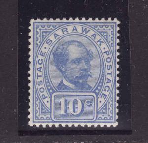 Sarawak-Sc#41-unused very light hinged, og , 10c ultra-Sir Charles J. Brooke-189