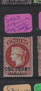 ST HELENA  (P0105B)  QV  1D     SG  27  PAPERMAKERS WMK  MNG