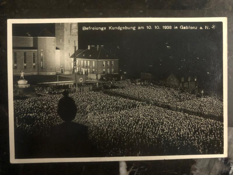 1938 Gablonz Germany RPPC Postcard Cover to Berlin Liberation Rally