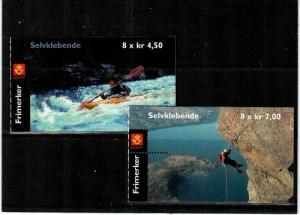 Norway Scott 1294a-95a Mint NH booklets (Catalog Value $35.00)
