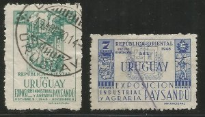 URUGUAY  564-565  USED,  EXPO OF INDUSTRY AND AGRICULTURE, PAYSANDU
