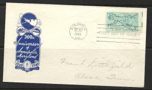 US #984-21 Annapolis Ioor cachet addressed