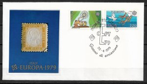 1979 Italy 1366-7  Europa C/S FDC