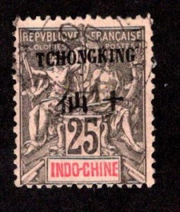 FRANCE - OFFICES IN CHINA - TCHONGKING SC# 9  F/U  1904
