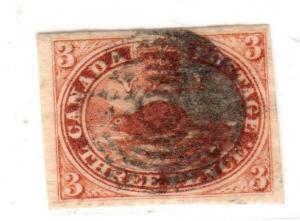 $ Canada Scott #4 used, VF-XF, very tiny corner crease LR