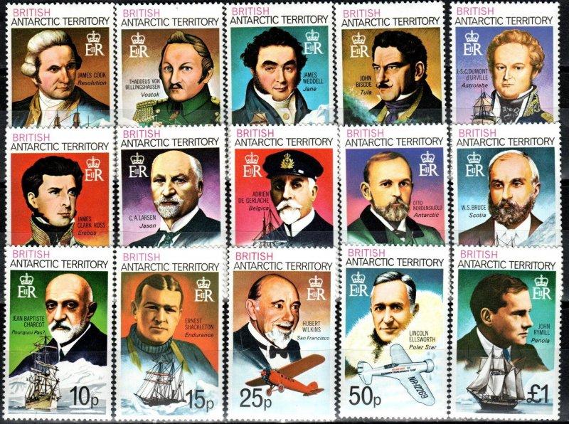 British Antarctic Territory #45-59 MNH  CV $29.20  (X6135)