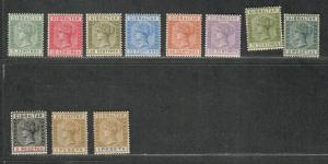 Gibraltar Sc#29//38 M/LH/VF, Partial Set, Sg #22-32, Cv. $274.50