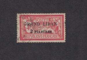 Lebanon 10 - French Mandate. Overprint. Used.    #02 LEB10b