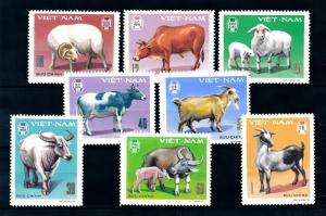 [94565] Vietnam 1979 Farm Animals Horned Sheep Cow Goat  MNH