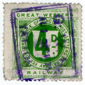(I.B) Great Western Railway : Letter Stamp 4d (Yatton)