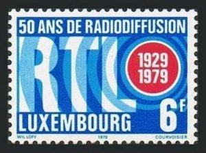 Luxembourg 634 bock/4,MNH.Michel 997. Broadcasting in Luxembourg,50 years,1979.
