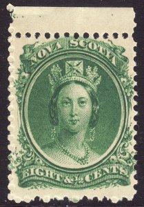 1860-63 Canada Nova Scotia Queen Victoria QV 8½¢ MNH Sc# 11 CV $20.00 Stk #6