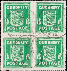 Guernsey Scott N1 Mint never hinged.