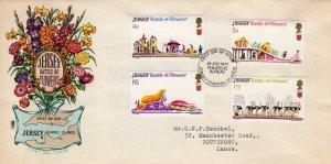 Jersey 1970 Sc#30/33 BATTLE OF FLOWERS Set (4) F.D.C.