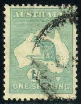 Australia #98 Kangaroo and Map, used (14.50)