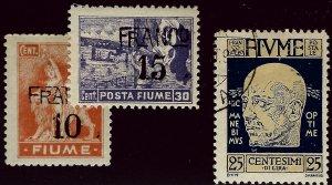 Italian Fiume SC#60-61 Mint & #90 Used F-VF...Worth a Close Look!!