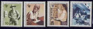 Germany Berlin 9N276-9 MNH Postman, Telecommunications, Loading Mail on Plane