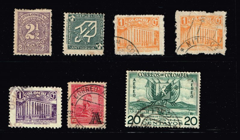 COLUMBIA STAMP USED STAMP COLLECTION LOT #3