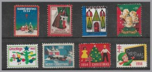 United States - Christmas seals 1930's to 1950s (8)