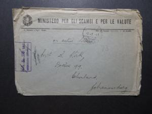 Egypt 1941 Italian Cover/British Active Service to South Africa/Creasing Z11554