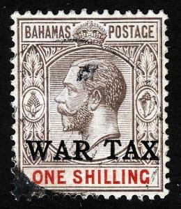 Bahamas Sc MR4 War Tax Overprint Light Cancel *Oak Lot