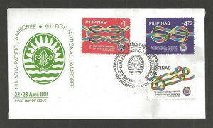 1991 Philippines Boy Scouts 12th Asia-Pacific Jamboree FDC