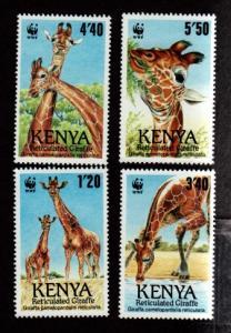 Kenya 491-494 Mint NH MNH Giraffes WWF!