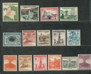 Colombia Sc#c239-c253 M/LH/VF, Cv. $56.55