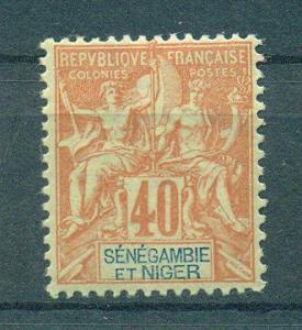 Senegambia & Niger sc# 10 mh cat value $21.00