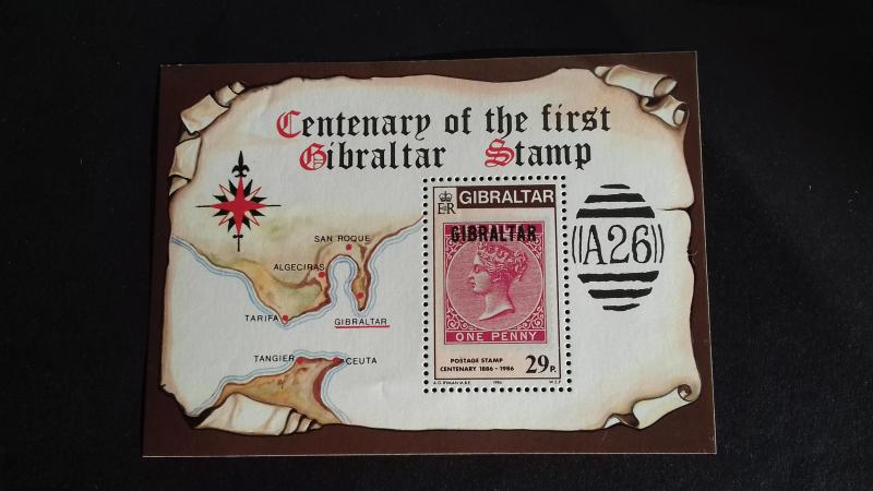 Gibraltar 1986 The 100th Anniversary of the Postage Stamp in Gibraltar Mint