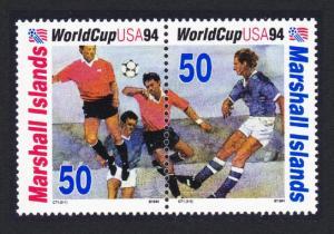 Marshall Is. World Cup Football Championship USA pair SG#522-523 SC#580a