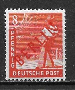 Germany Berlin 9N23 8pf Worker single Unused LH