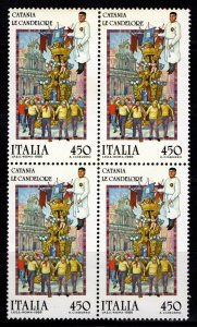 Italy 1986 Folk Customs Block [Mint]