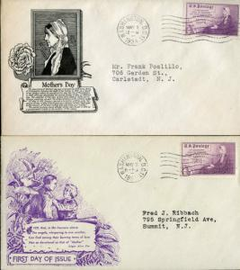#737-3S (2) DIFFERENT FDC CACHET BY DYER & CS ANDERSON BN2514
