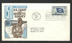 US #1088-5 Geodetic Cachet Craft Boll cachet addressed