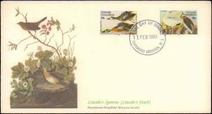 Grenada, First Day Cover, Birds