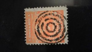1910 #72 5c Costa Rica 1910 Bulls Eye Target Cancel