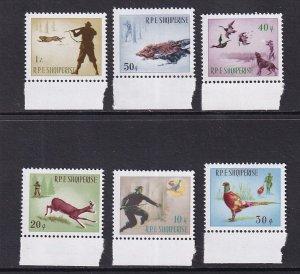 Albania   #856-861    MNH   1965  hunting