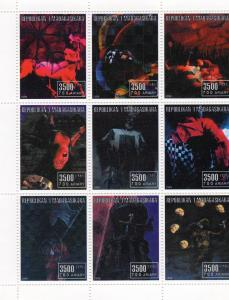Madagascar 1999 HALLOWEEN - MONSTERS Sheetlet (9) Perforated MNH