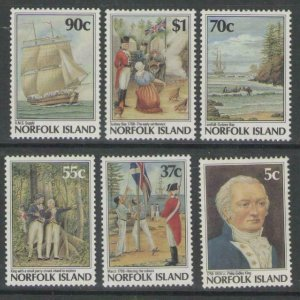 NORFOLK ISLAND SG438/43 1988 BICENTENARY OF NORFOLK ISLAND SETTLEMENT MNH