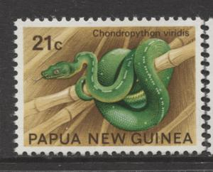Papua New Guinea - Scott 346 -Python -1972 - MNH- Single 21c Stamp
