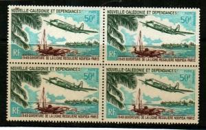 New Caledonia Scott C69 Mint NH VF block (Catalog Value $22.00)
