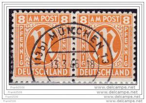 Germany 1945-46, Allied Occupation, A.M.G. 8pf, sc#3N6, used