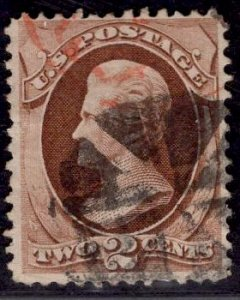 US Stamp #146 2c Red Brown Jackson USED SCV $17.50