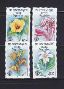 Seychelles Zil Elwannyen Sesel 122-125 Set MNH Flowers