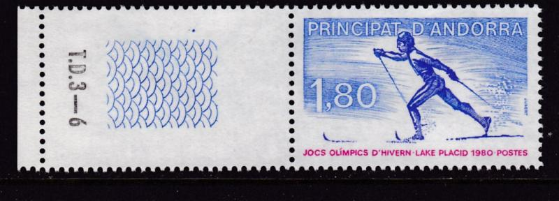 Andorra (French) 1980 Lake Placid Winter Olympics  SKI  VF/NH(**)