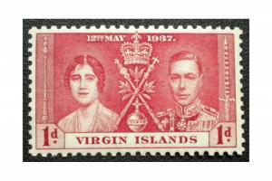BRITISH VIRGIN ISLANDS STAMP. YEAR 1937. SCOTT # 73. UNUSED